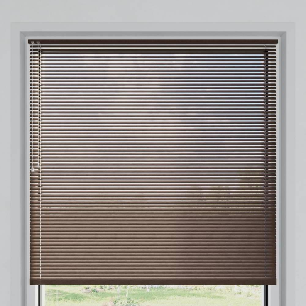 Store vénitien aluminium lames 25 mm, Texture de bois type Palissandre