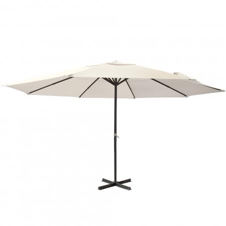 Parasol de terrasse droit, forme ronde 5 m