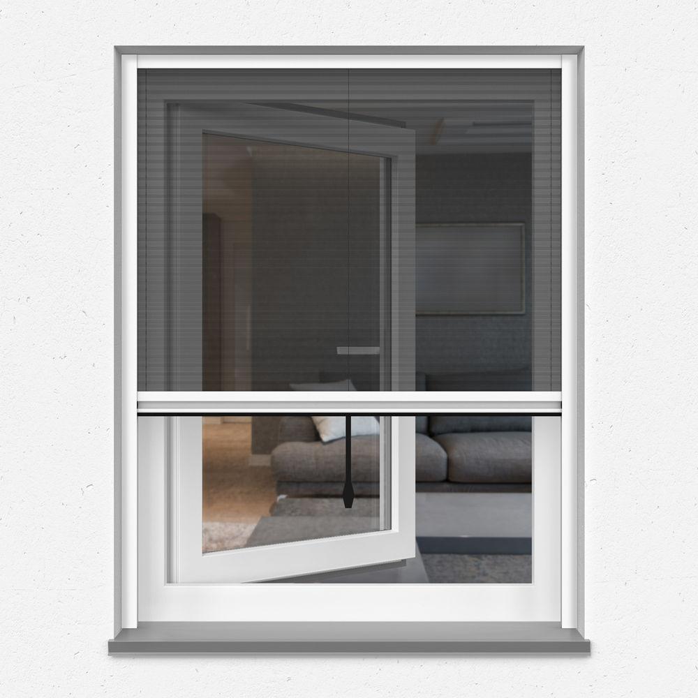 Moustiquaire plissée pour fenêtre, sur mesure,
