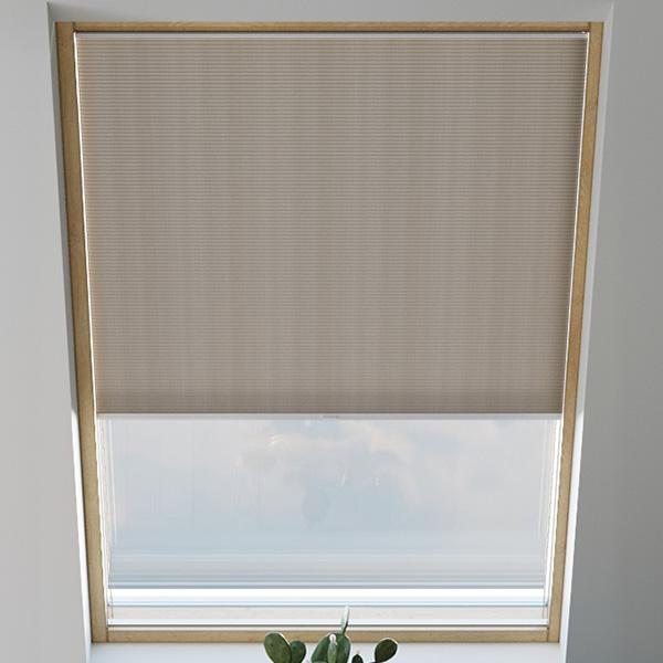 Store plissé pour fenêtre de toit, nid d'abeille, sur mesure, Piano Cappuccino