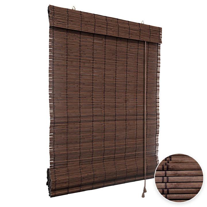 Store en Bambou type bateau, Brun foncé