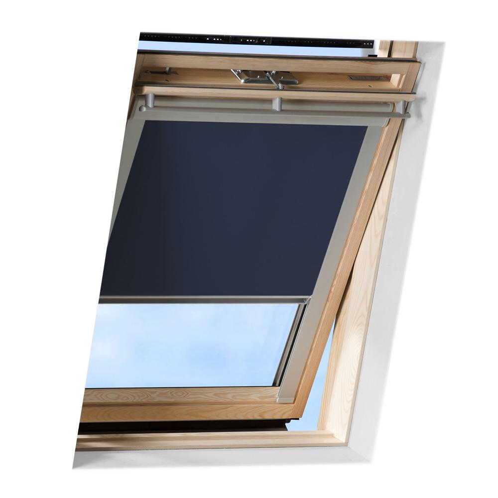 Store occultant pour fenêtre de toit compatible VELUX ®, Bleu foncé