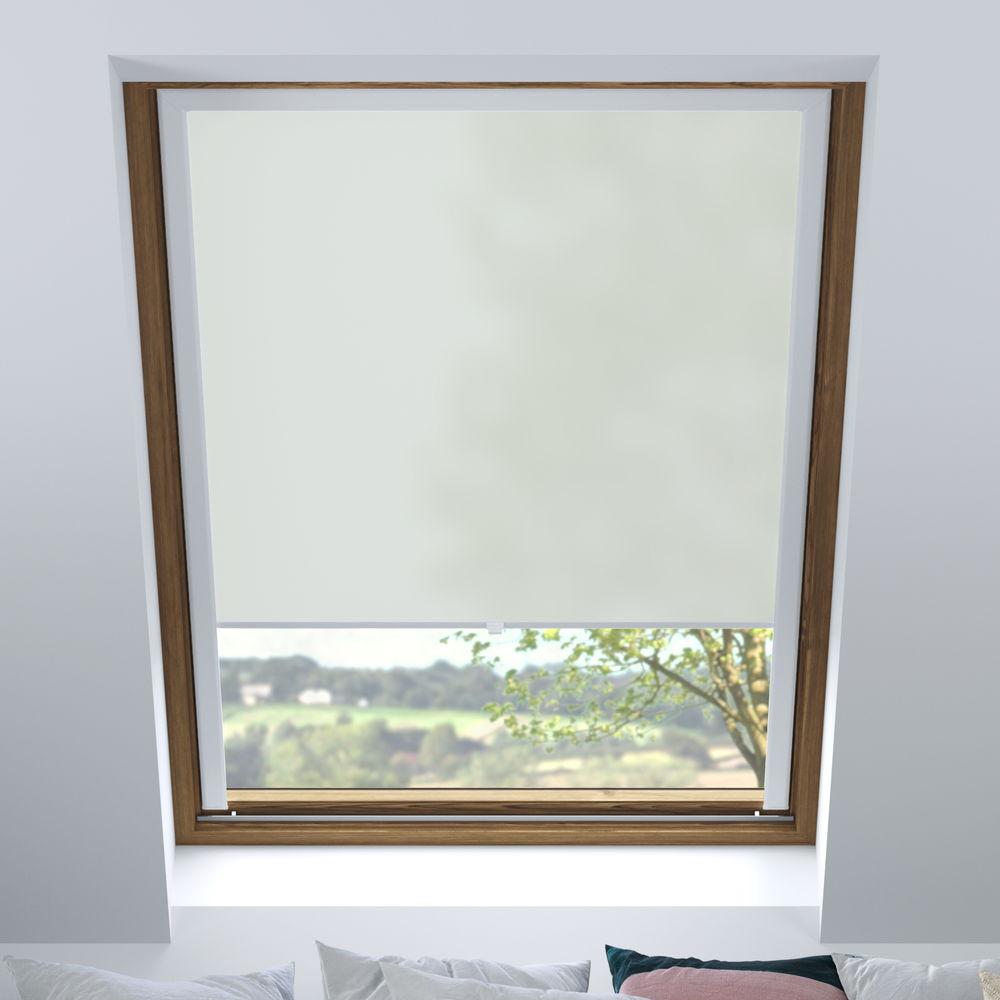 Store pour les fenêtres de toit, Sur mesure, Tamisant, Gris clair
