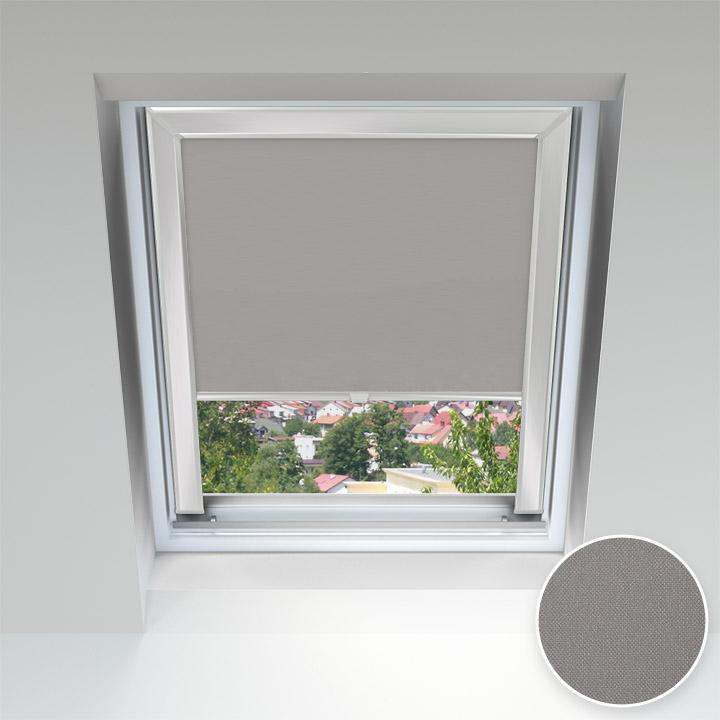 Store pour les fenêtres de toit, Sur mesure, Nickel