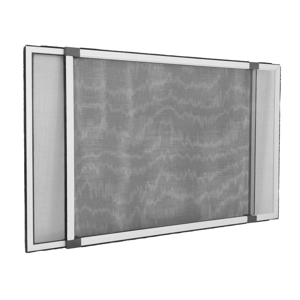 Moustiquaire pour fenêtre avec volet roulant, Prête-à-poser, Argenté