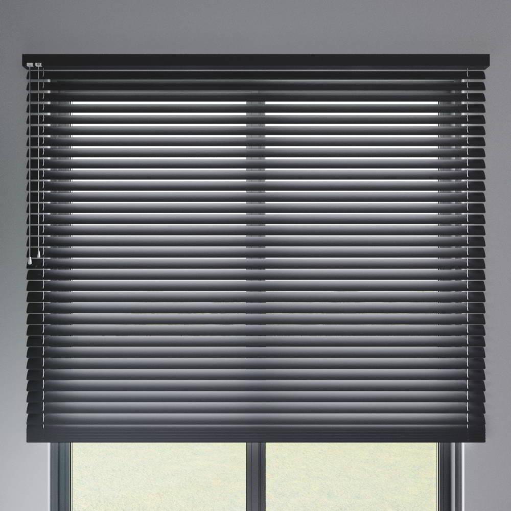 Store vénitien aluminium lames 50 mm, Noir mat