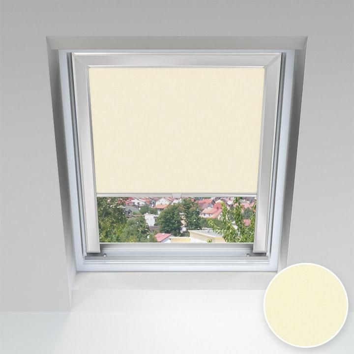 Store pour les fenêtres de toit, Sur mesure, Crème