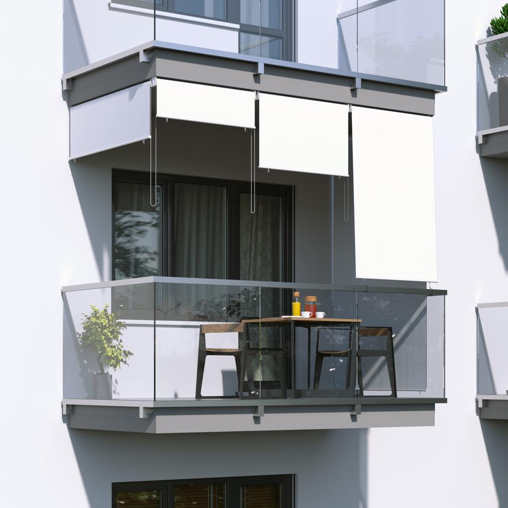 Store extérieur vertical, Blanc