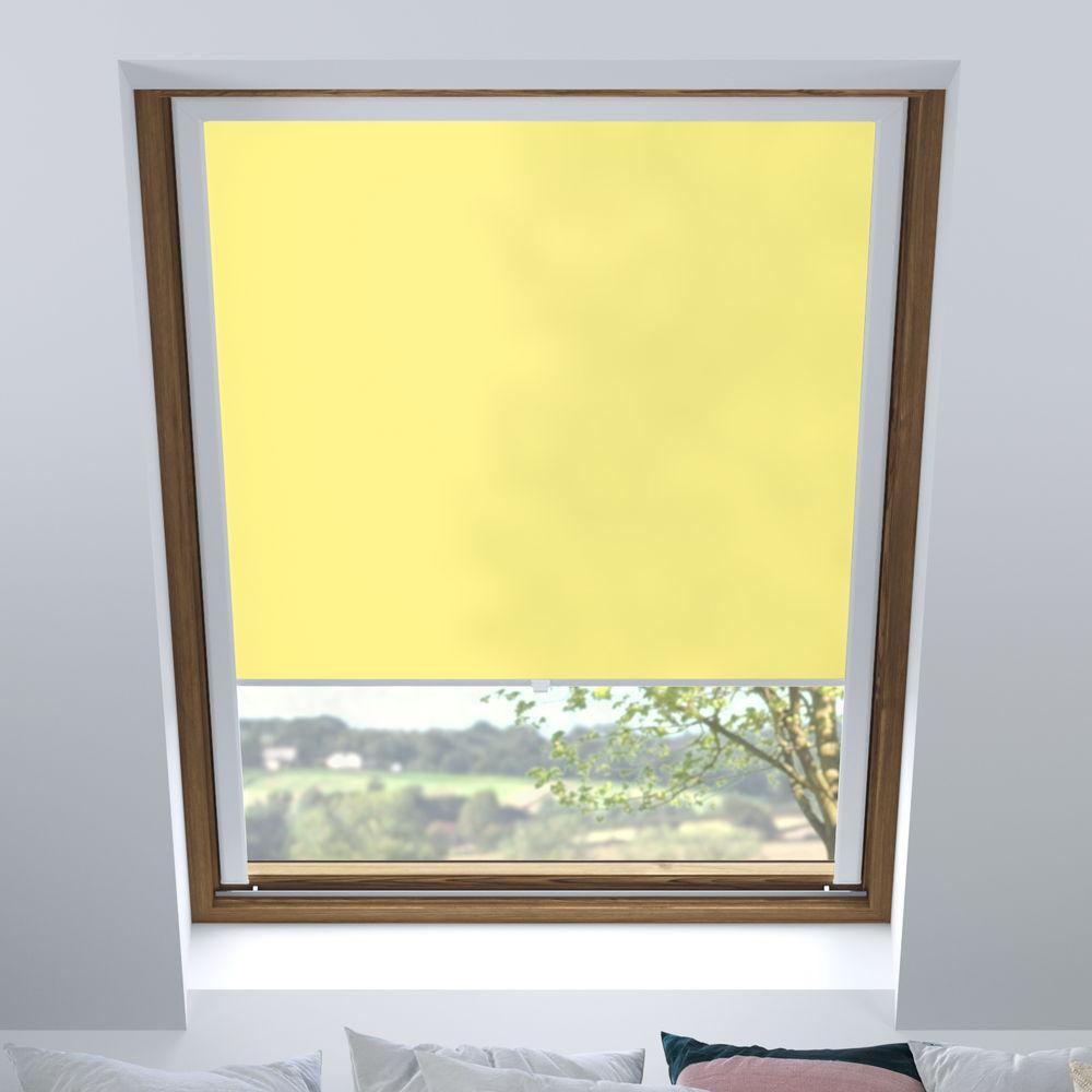 Store pour les fenêtres de toit, Sur mesure, Tamisant, Banane