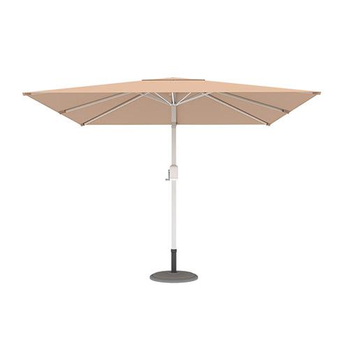 Parasol droit orientable carré, 3x3 m, Crème