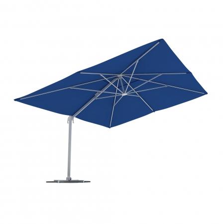 Parasol déporté rectangulaire, 4x3 m, Bleu