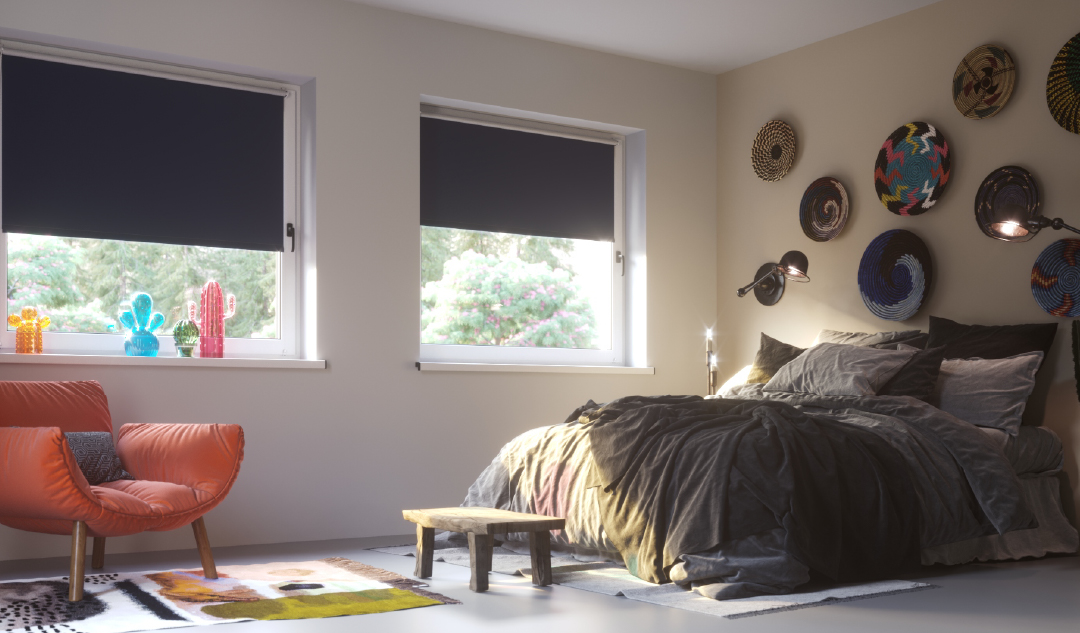 Store enrouleur occultant pour une chambre à coucher