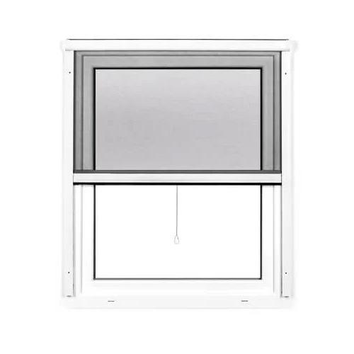 Moustiquaire enroulable pour fenêtre, Prête-à-poser, Blanc