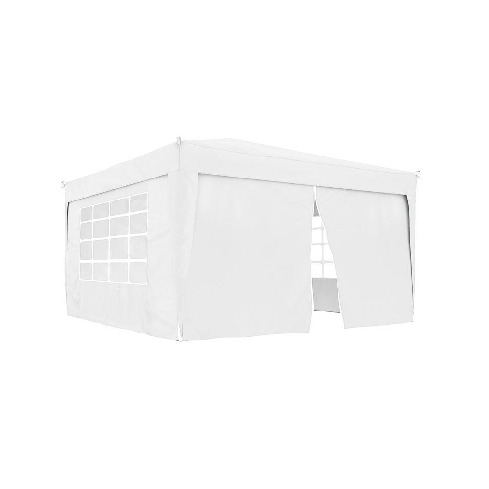 Rideau supplémentaire avec fermeture éclair pour tonnelle Basic et Premium, 295 x 195 cm, Blanc