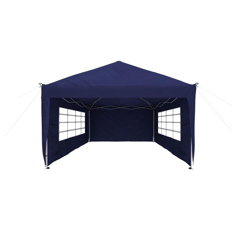 Rideau supplémentaire avec fenêtre pour tonnelle Basic et Premium, 295 x 195 cm, Bleu