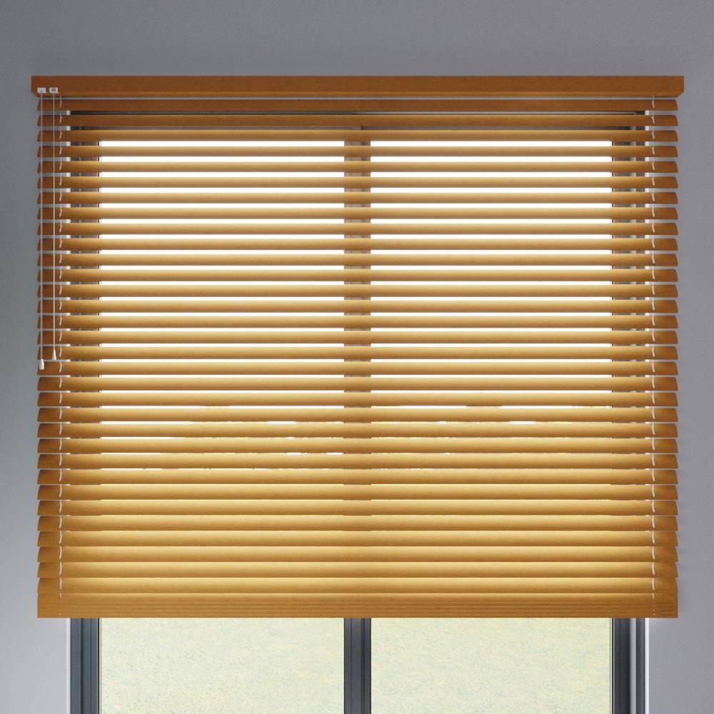 Store vénitien aluminium lames 50 mm, Imitation bois