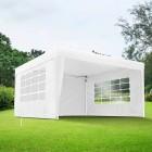 Avant-première: Rideau supplémentaire avec fenêtre pour tonnelle Basic et Premium, 295 x 195 cm
