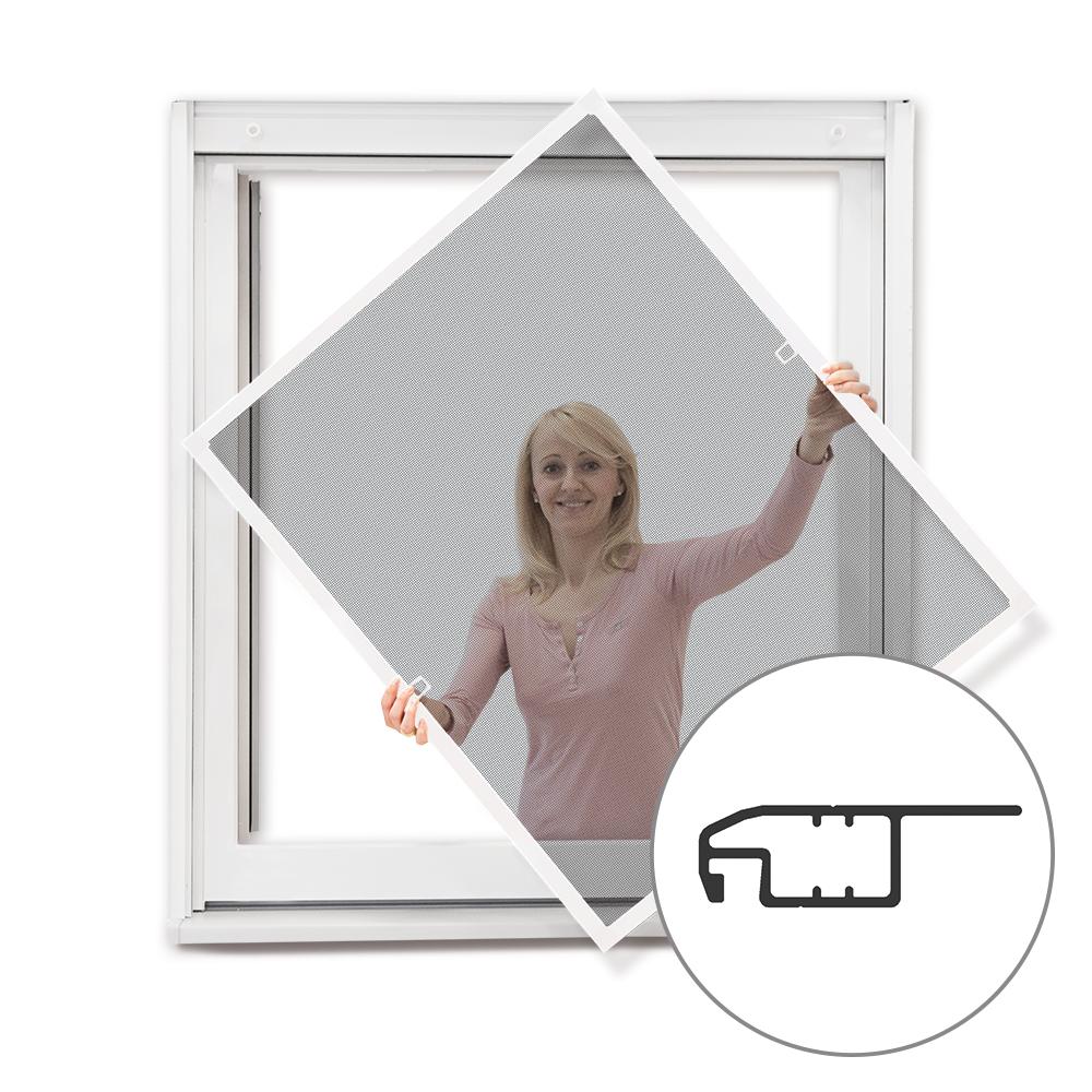 Moustiquaire cadre fixe pour fenêtre, prête-à-poser, Blanc