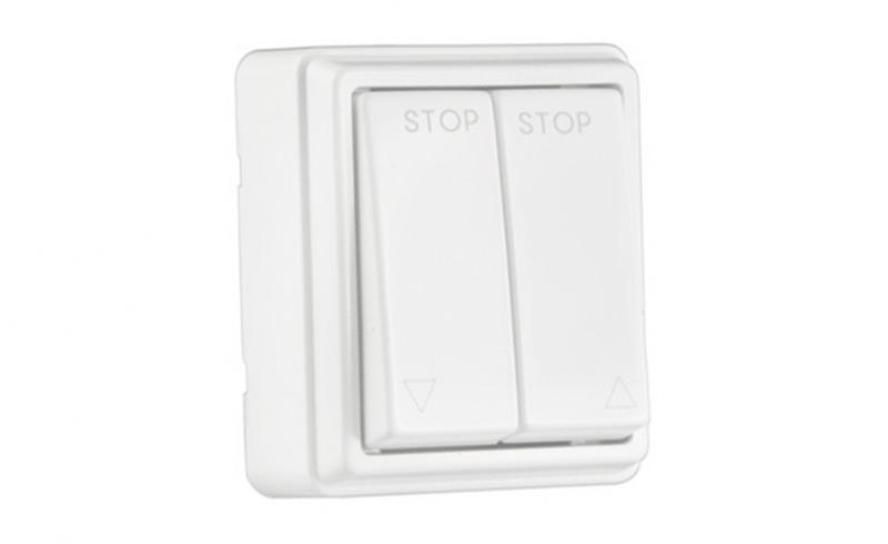 Podwójny włącznik natynkowy do pomieszczeń mokrych