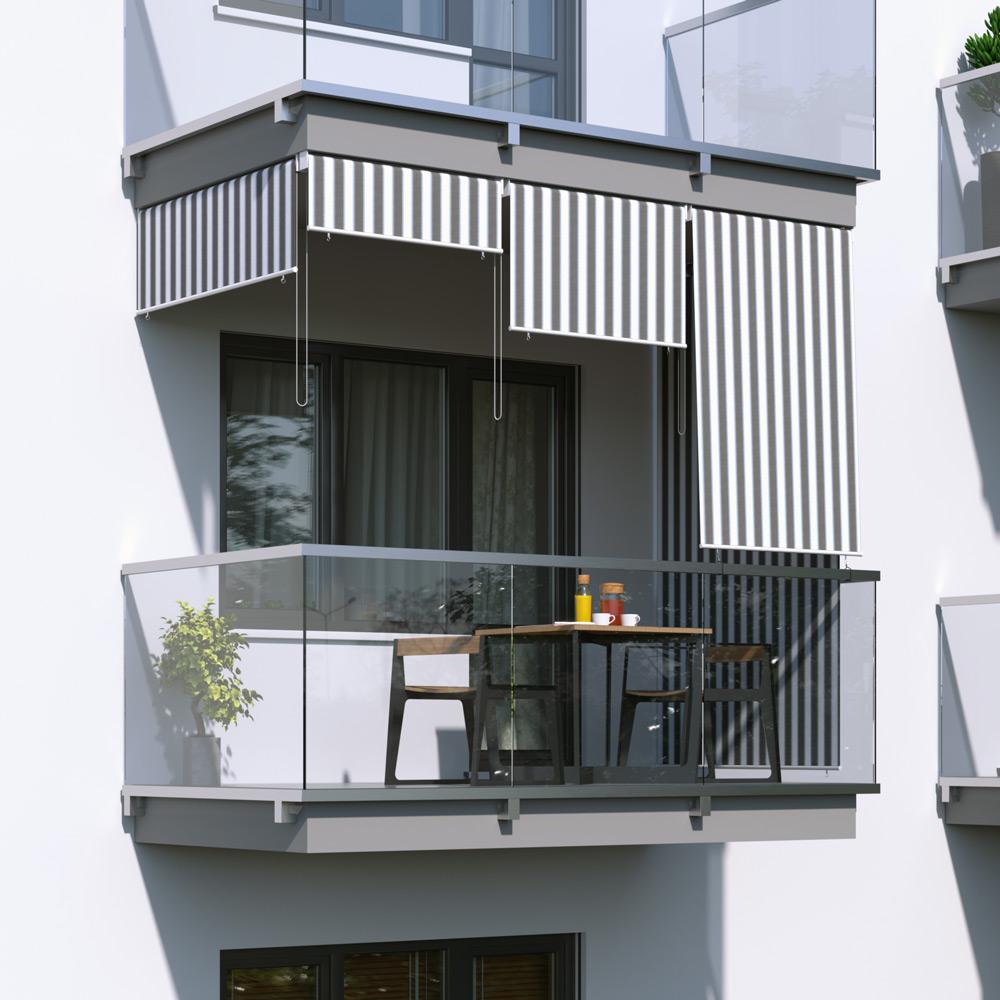 Store extérieur vertical, Gris-blanc