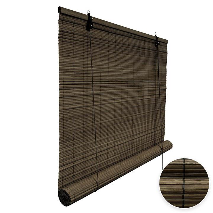 Store en bambou, Brun foncé