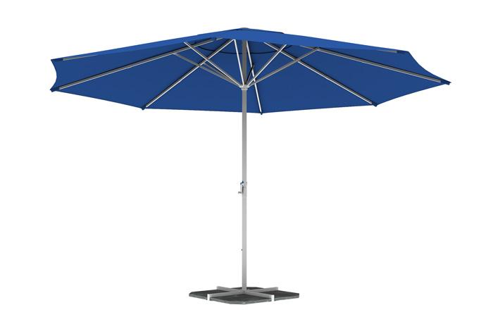 Parasol droit rond 5 m, Bleu