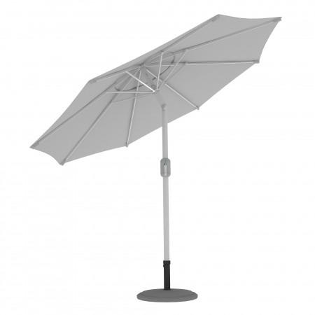 Parasol de terrasse droit orientable, forme ronde 3,5 m