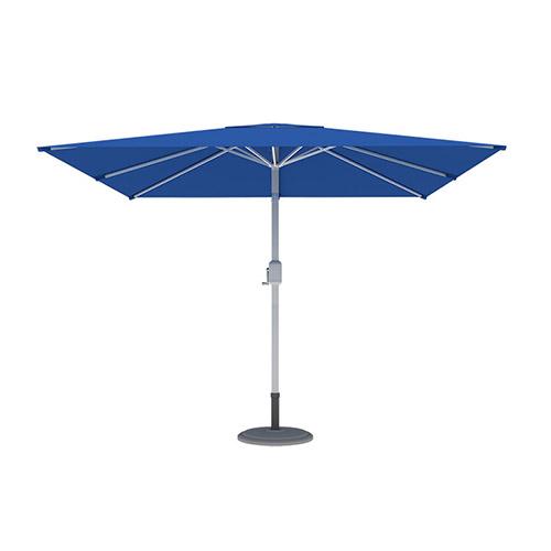 Parasol droit orientable carré, 3x3 m, Bleu