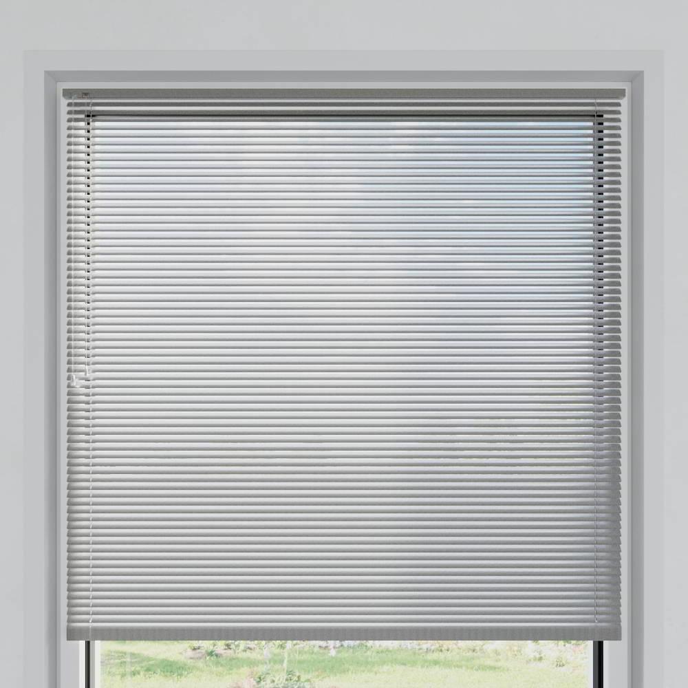 Store vénitien aluminium lames 25 mm, Argenté mat