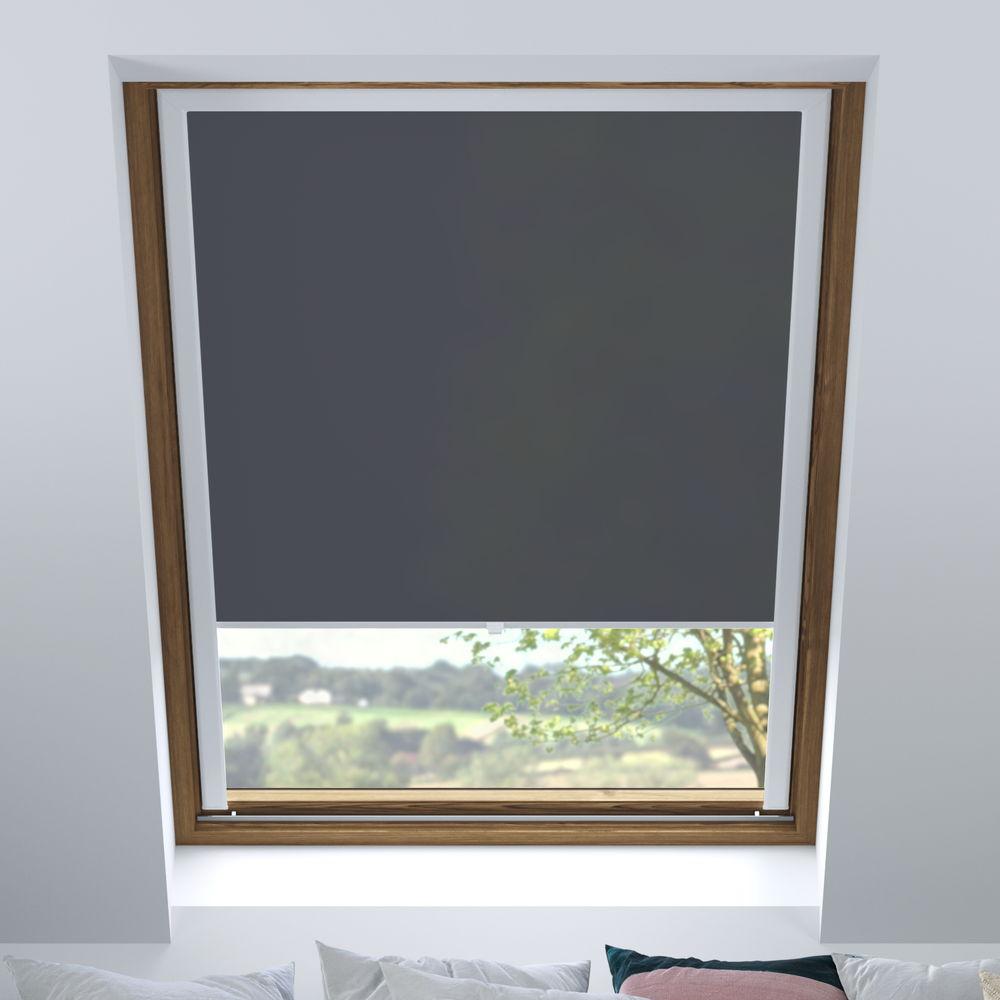 Store pour les fenêtres de toit, Sur mesure, Tamisant, Gris graphite