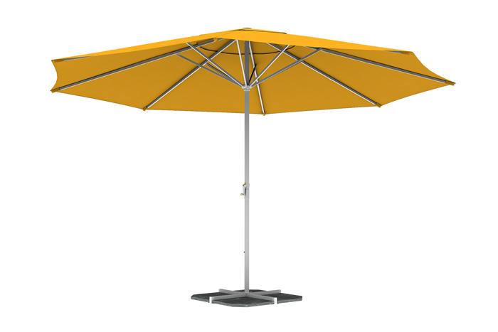 Parasol droit rond 5 m, Jaune