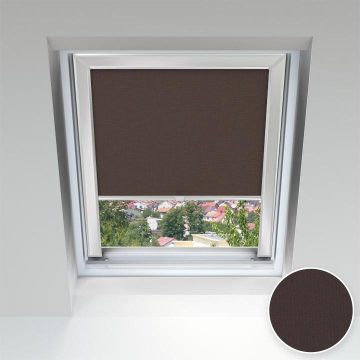 Store pour les fenêtres de toit, Sur mesure, Chocolat