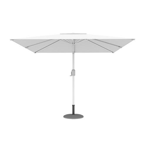 Parasol droit orientable carré, 3x3 m, Blanc