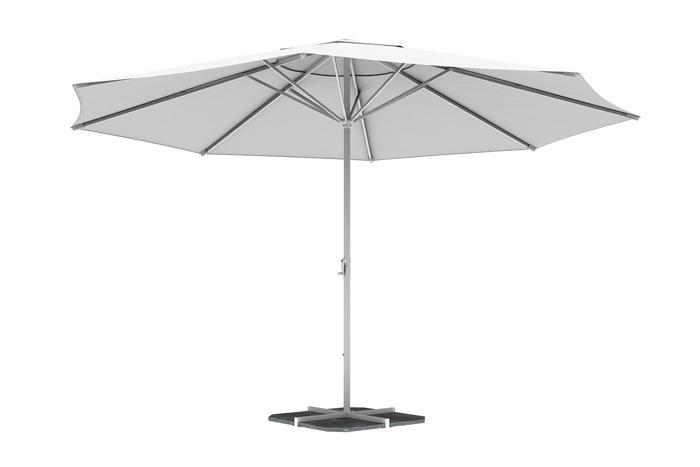 Parasol droit rond 5 m, Blanc