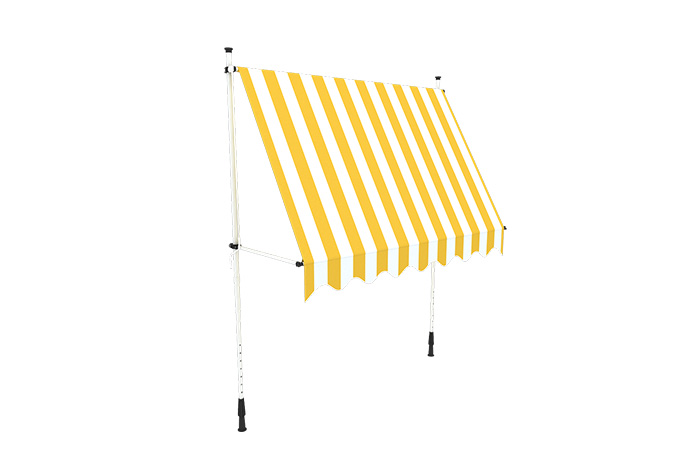 Markiza na balkon żółta w paski