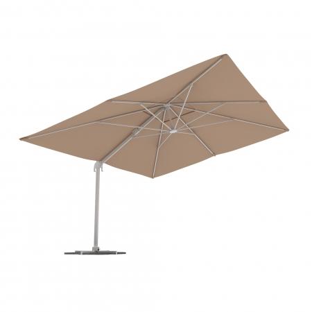 Parasol déporté rectangulaire, 4x3 m, Crème