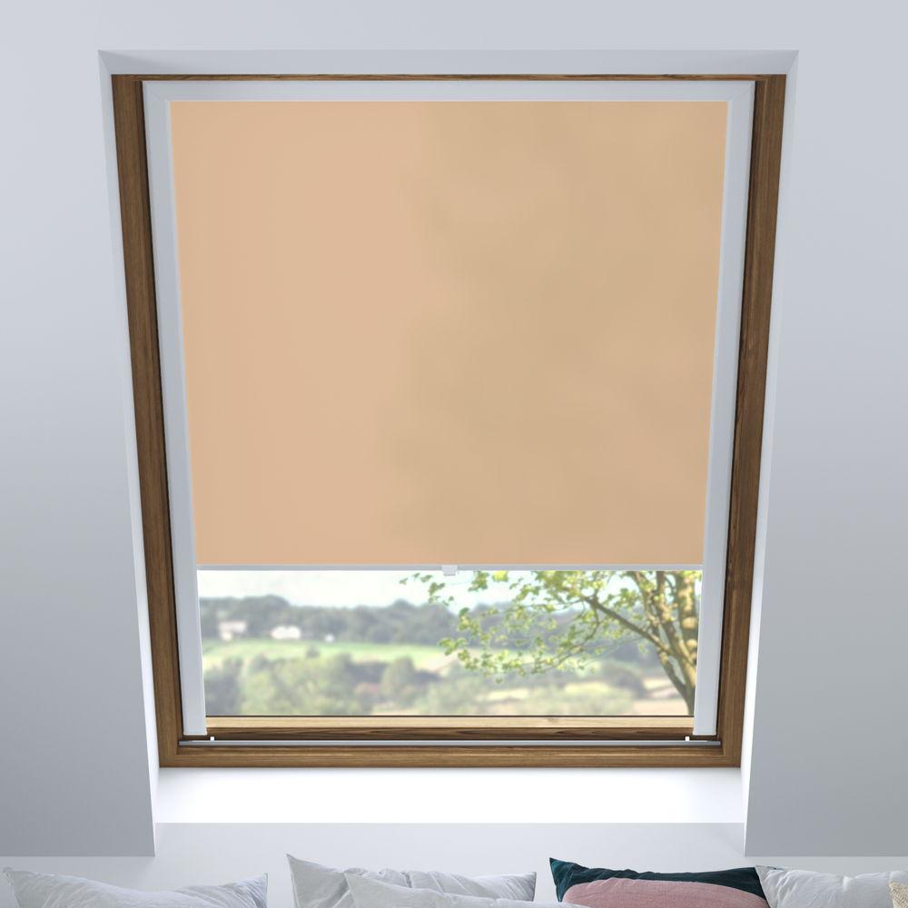 Store pour les fenêtres de toit, Sur mesure, Tamisant, Café au lait