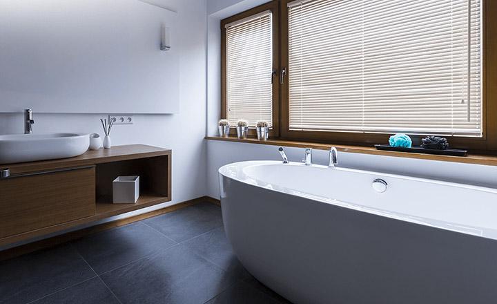 Żaluzje aluminiowe w łazience