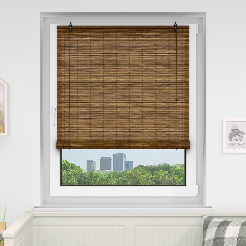 Store en bambou, Brun