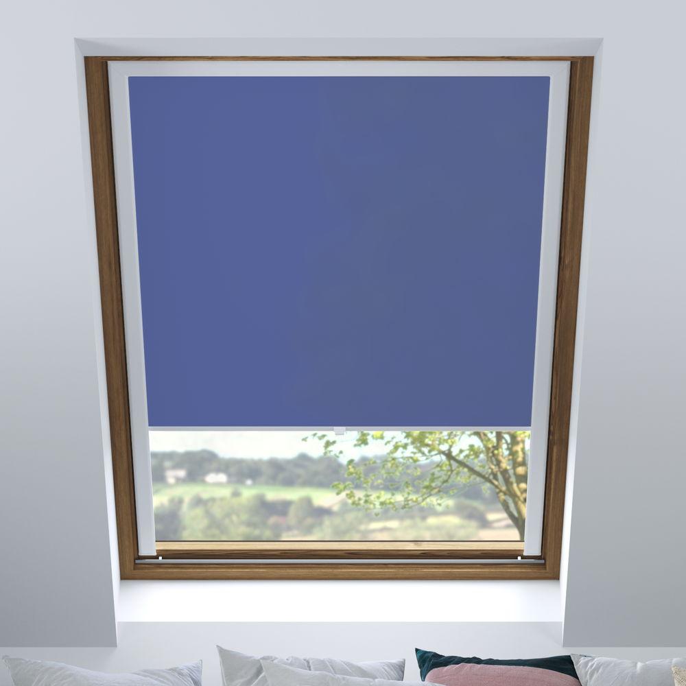 Store pour fenêtres de toit tamisant, Sur mesure, Fleur de bleuet