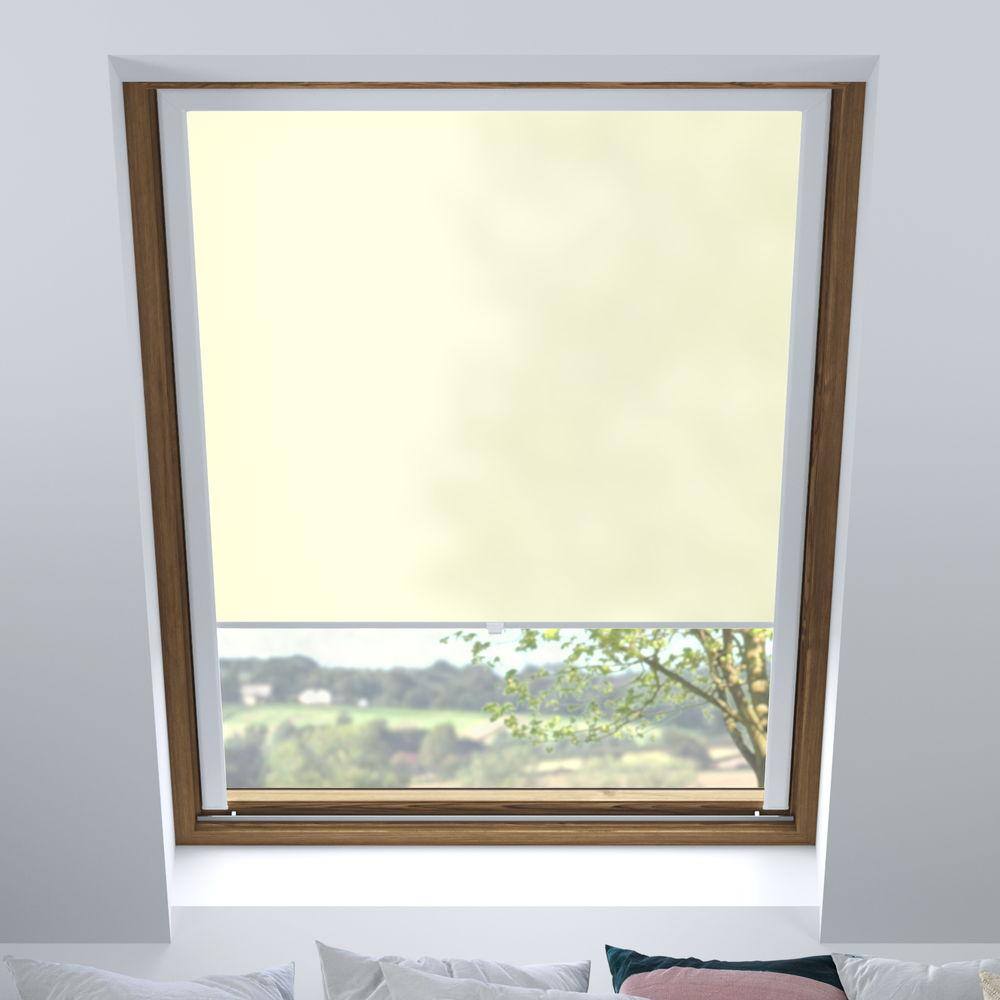 Store pour les fenêtres de toit, Sur mesure, Tamisant, Crème