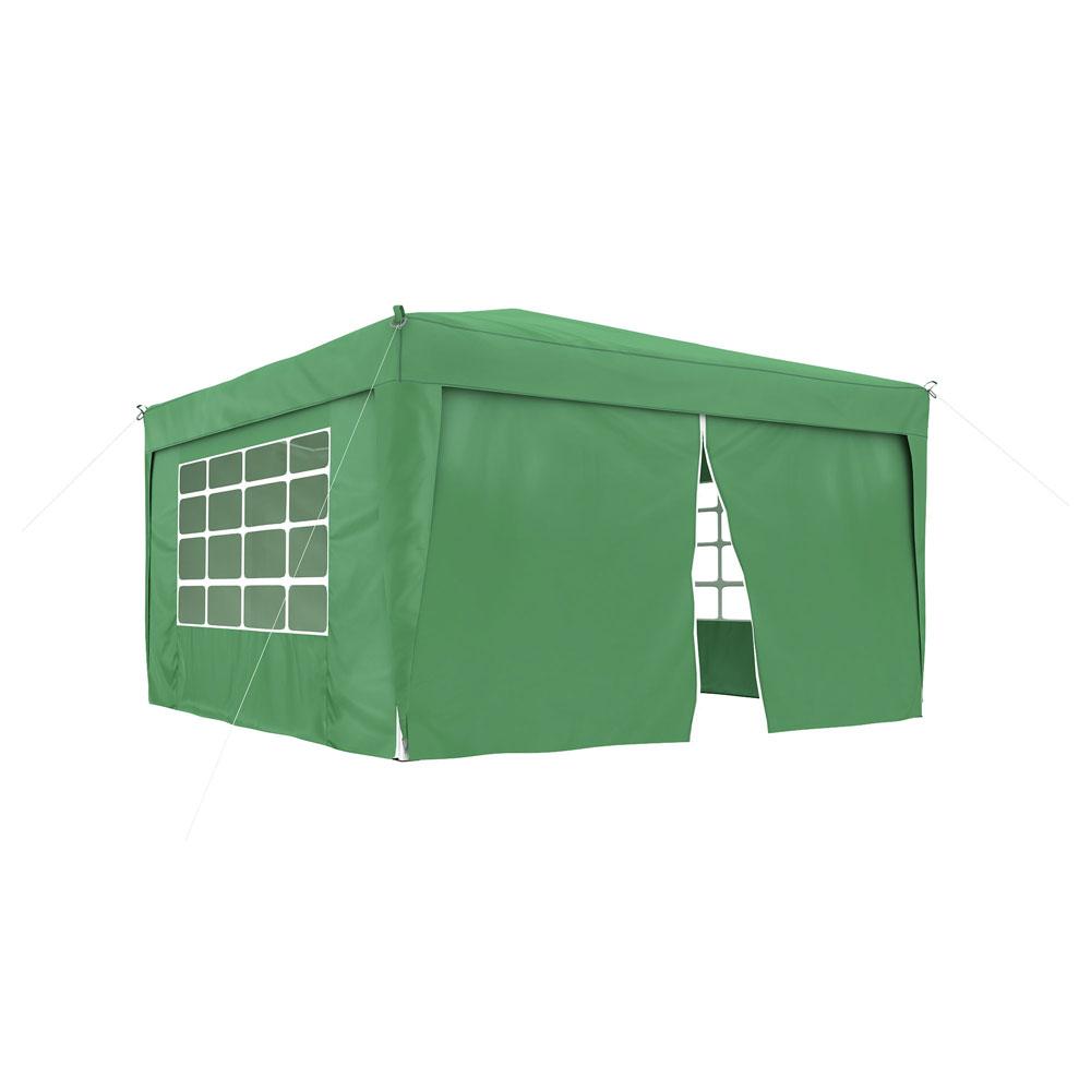 Rideau supplémentaire avec fermeture éclair pour tonnelle Basic et Premium, 295 x 195 cm, Vert
