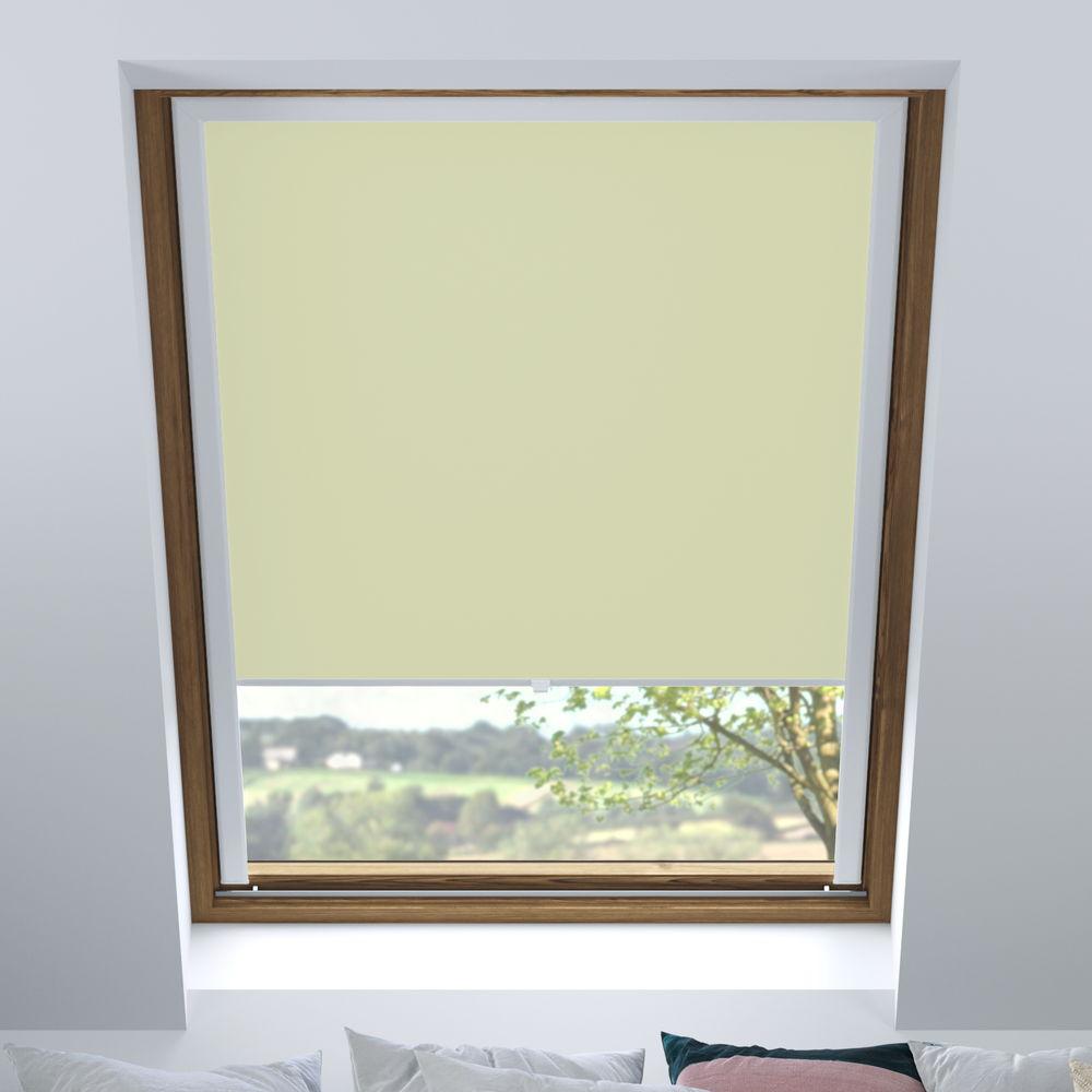 Store pour les fenêtres de toit, Sur mesure, Occultant, Crema catalana