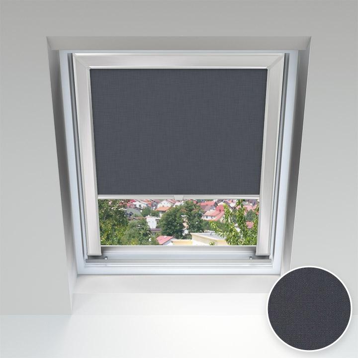 Store pour les fenêtres de toit, Sur mesure, Gris graphite