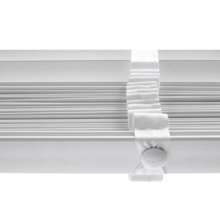 Store vénitien imitation bois, lames 50 mm, Blanc, Prêt-à-poser