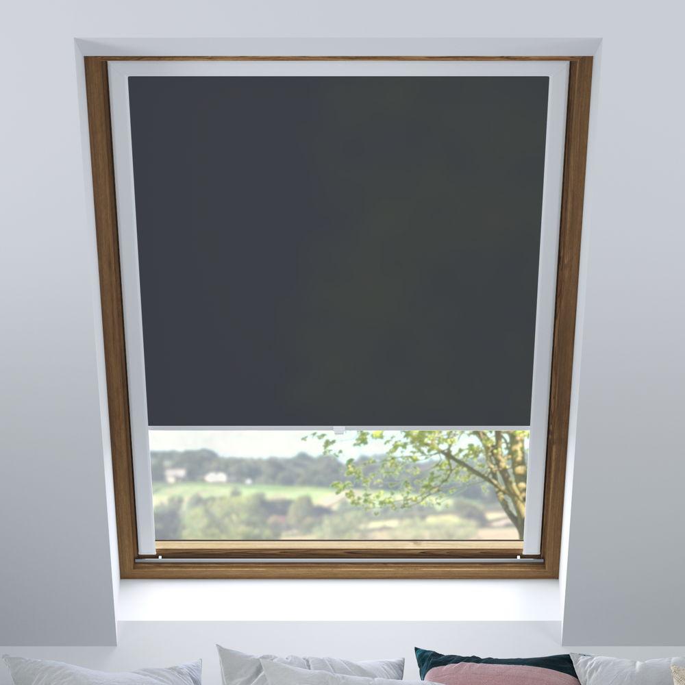 Store pour les fenêtres de toit, Sur mesure, Tamisant, Noir