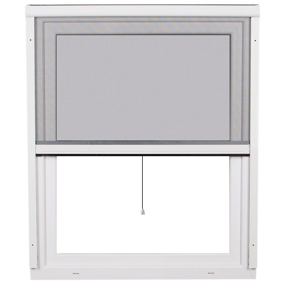 Moustiquaire enroulable pour fenêtre 2 en 1, prête-à-poser, 130 x 160 cm