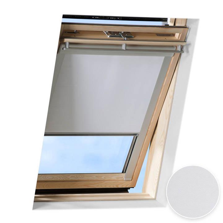 Store occultant pour fenêtre de toit compatible FAKRO ®, Blanc