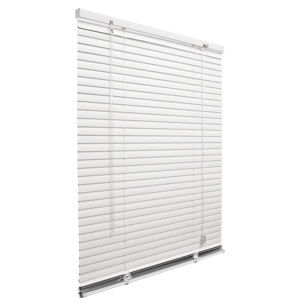 Store vénitien en aluminium Prêt-à-poser, lames de 25 mm, Blanc