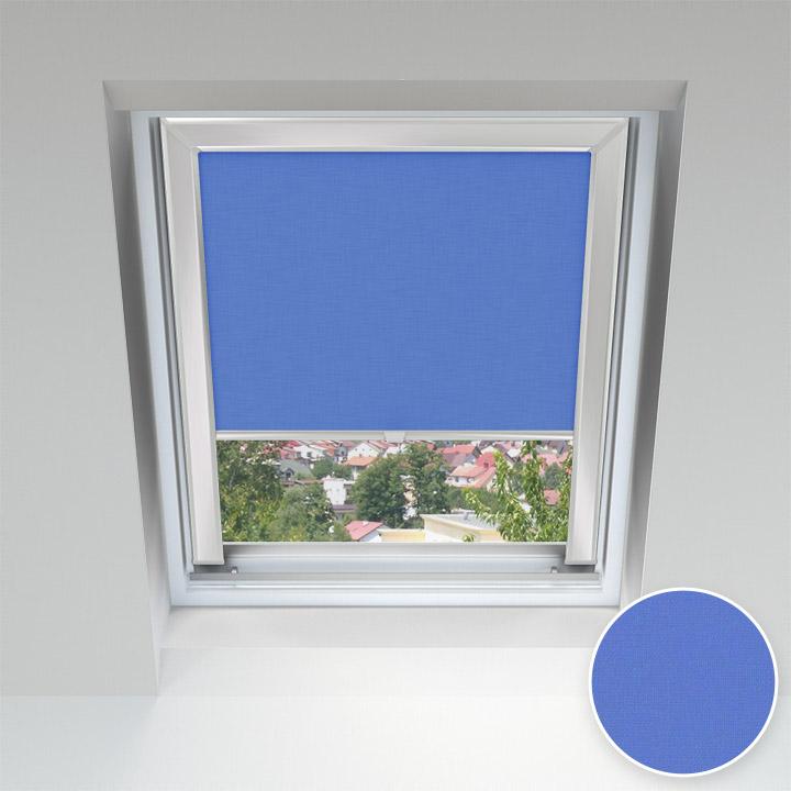 Store pour les fenêtres de toit, Sur mesure, Bleu cobalt